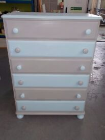 Chest Of Drawers Upcycled Shabby Chic Style