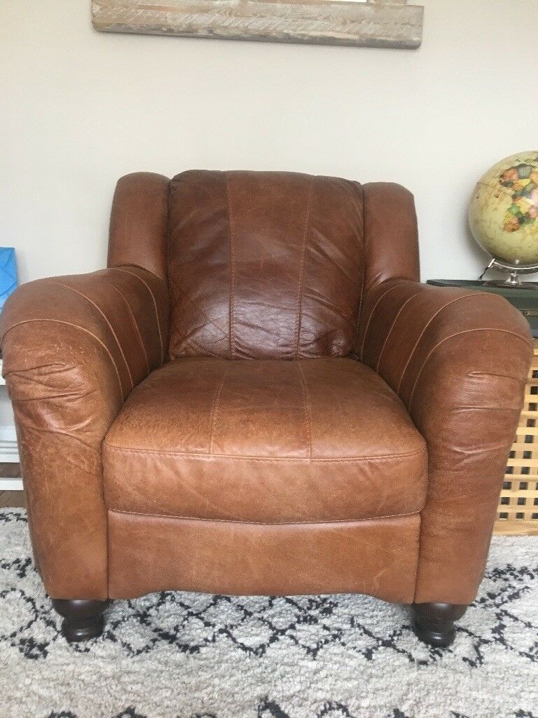 Fine Tan Brown Leather Club Chair With Dark Wood Feet From No Smoking Home With Fire Safety Tag In Bishopston Bristol Gumtree Frankydiablos Diy Chair Ideas Frankydiabloscom