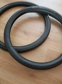 2 continental double fighter tires with inner tubes 27.5