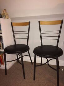 Pair of good quality bistro chairs . Excellent condition