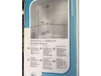 AQUALUX SHOWER SPLASH GUARD 200mm x 1400mm - NEW IN BOX