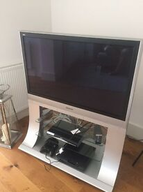 "Silver Panasonic Viera 40"" + Movable Stand & Remote"