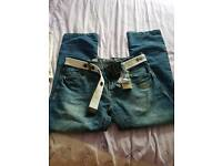 Mens crosshatch jeans size 36r New