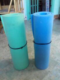 Blue or Green foam mats