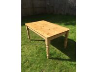4-6 seater pine table