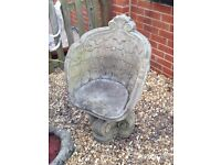 Solid stone hand carved chair