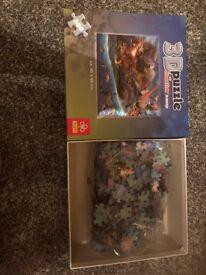 Dinosaur kids jigsaw puzzle 3D