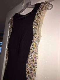 Black and Gold Prom dress for sale!