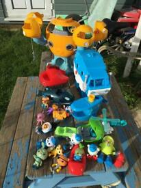 Bundle of Octonaughts toys various Gups and figures