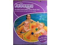 Double or twin children's swim inflatable swim seat, swimming aid