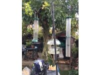 Bird feeder stand and feeders,good clean condition