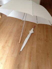 Umbrellas (*brand-new*, white, 2x)