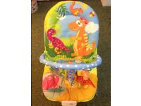 Unisex baby bouncer with music and vibrations