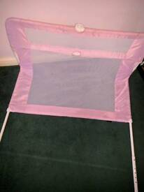 Bed guard pink girls can dismantle if needed
