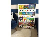 Tidy books alphabet book shelf
