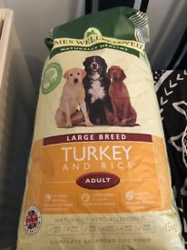 James Wellbeloved Large Breed -Turkey and Rice dry dog food.