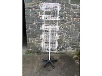 Greeting card floor standing card display rack. As new condition.