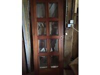 2 xGlass 8-panelled doors
