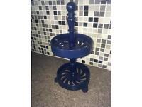 Cast iron blue enamel spice rack