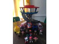 Paw Patrol Look Out Tower And extras