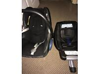 Baby car seat and ISO fix