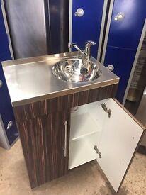 Sink Unit Walnut & Chrome