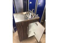 Sink Unit Walnut & Chrome
