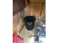 Black Plastic Storage Bin