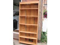 Warm Oak Colour Bookcase 1.8m x 0.75m