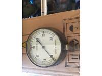 1950/60 Brass mercury pressure gauge