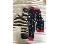 Boys M &S jersey pyjamas x2 size 3-4 years