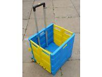 Folding Box Trolley : Telescopic handle