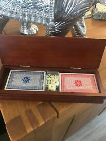 Wooden playing card set