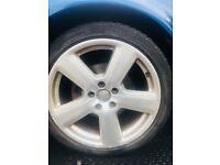 Audi A4 A3 B7 S-LINE 18'' Alloy Wheels &Tyres 235/40/r18 wheel rim rims passat