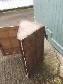 Old corner cupboard