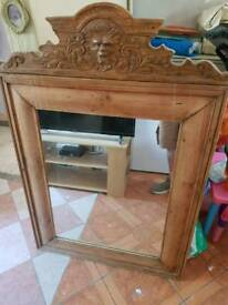 Large unusual mirror about 4ft