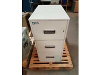 Chubb Fireproof 3 Drawer Filing Cabinet Locked with No Key