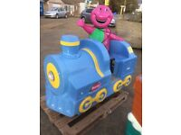 Barney Train Coin Operated Kiddie Ride! Fully working!
