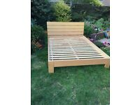 Double beach bed frame from next £30
