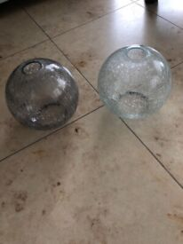2 x glass lampshades from Next
