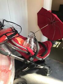 iCandy Peach Tomato Stroller with lots of extras
