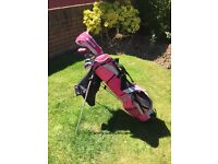 Girls, pink, Longridge Challenger Golf Set - used once! As new!