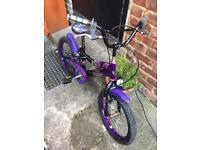 "Girls bike, 18"" inch, kids bike purple"