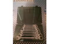 8pc AF Flexi ratchet spanners (tools)