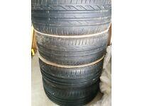 SAAB 17 alloys with new bridgestone turanza tyres