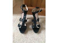 Ladies Pilar April black strappy sandals size 6-6.5 BNIB