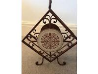 Heavy Wrought iron Wine bottle holder/ornament