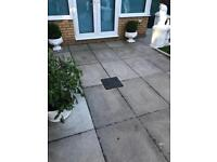 Garden patio slabs grey paving