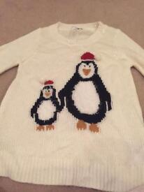 Maternity new look Christmas penguin jumper