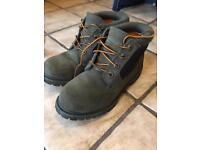 Women's Timberland boots khaki green size 4